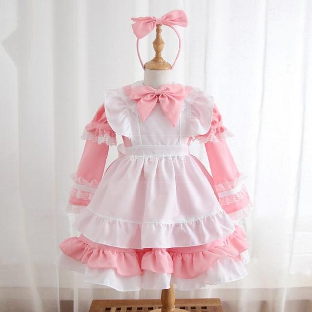 Alice in Wonderland Kids Girls Fancy Halloween Dress