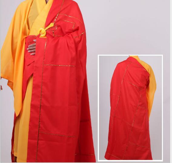New Unisex Buddhist Monk Robe Zen Meditation Monk Robes Shaolin Temple Monk Clothes Kung Fu Uniform Suits Monk Costume Robes