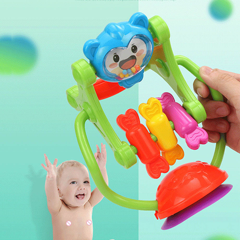 MrY Rattle Baby Toy For Baby Gift Three-color Model Rotating Ferris Wheel Stroller Dining Chair Educational Toys