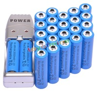 24x AA 2A Blue Color 1.2V Ni MH 3000mAh Rechargeable Battery Batteries cells for toys + USB Charger