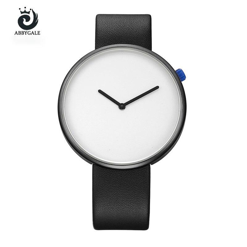 אופנה נשים מינימליסטי סגנון פשוט גבירותיי שעון יד שעון קוורץ נשים שעוני נשים שעוני יוקרה מותג עליון ABBYGALE