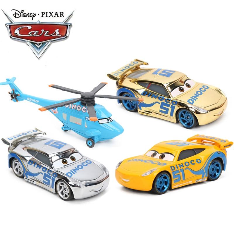 Disney Pixar Cars 3 Toy Lightning McQueen Mater Storm Fillmore Dinoco Cruz 1:55 Diecast Metal Alloy Model Car Toys Gift For Kids