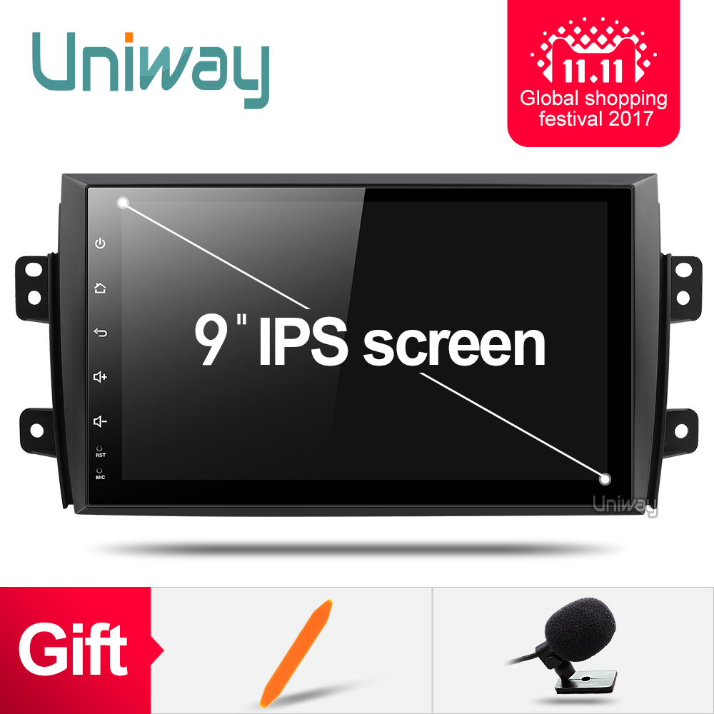 7.1.1 uniway ATY9071 2G + 16G Android car dvd dla Suzuki SX4 2006 2007 2008 2009 2010 2011 2012 2013 radio samochodowe nawigacja gps