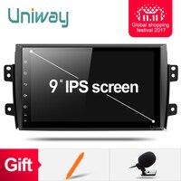 Uniway ATY9071 2G + 16G Android 7.1.1 auto dvd voor Suzuki SX4 2006 2007 2008 2009 2010 2011 2012 2013 autoradio gps navigatie