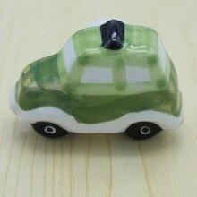 54mm car model ceramic children knobs, cartoon ceramic drawer dresser wardrobe furniture handles pulls knobs