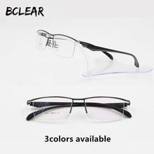 Bclear модные Titanium половину кадра очки деловые мужчины оправа для очков близорукость пресбиопии очки полу-очки без оправы Горячий