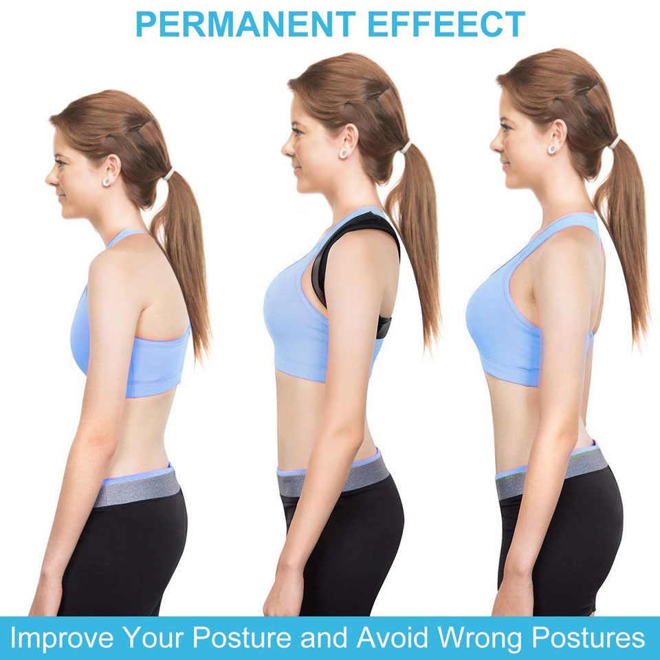 AOLIKES yeni duruş düzeltici omurga sırt omuz desteği düzeltici bant ayarlanabilir Brace düzeltme kambur sırt ağrısı rahatlama