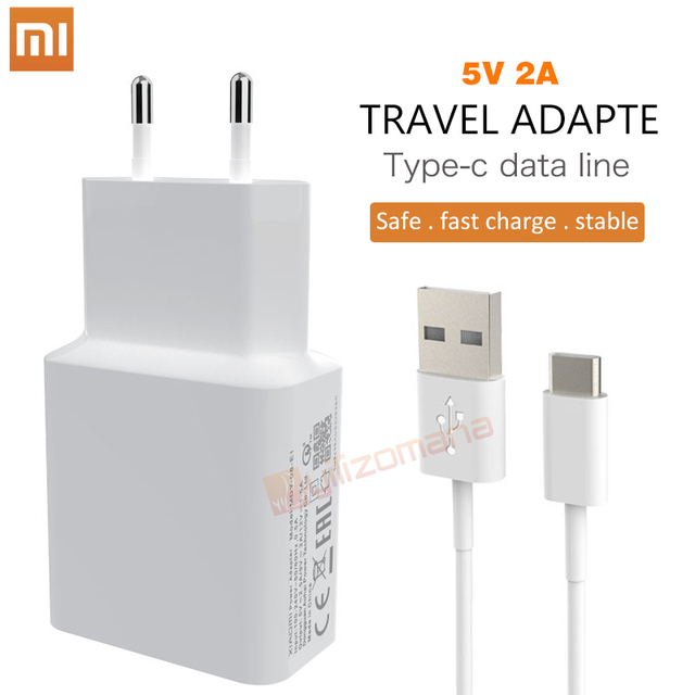 Original Xiaomi 5V 2A EU Charger Micro / Type C usb cable Charging Adapter For For MI5 max 3S Redmi Note 3 4 pro 4X 5 5S