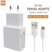 Оригинальное зарядное устройство Xiaomi 5В 2A EU Micro / Type C usb кабель, зарядный адаптер для MI5 max 3S Redmi Note 3 4 pro 4X 5