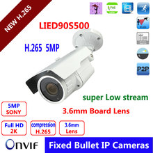5.0 Megapixel 6pcs Infrared  leds 2592*1920P Night Vision IP Camera H.265 ONVIF Outdoor Camera Security 2.8-12mm Varifocal lens