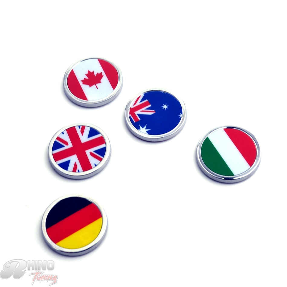Car Badge Canada Germany Italy Australia England Flag Emblem Metal Body Side Wing For Golf Corolla Fiesta Clio 20426 Dull Polish simulation mini golf course display toy set with golf club ball flag