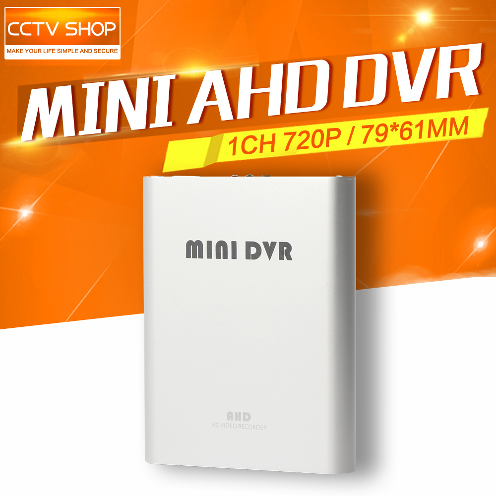 720P 1CH Mini AHD DVR CCTV Security Camera SD Card CCTV DVR Recorder Motion Detection Video Recorder 1280*720 super mini ahd 2 in 1 dvr recorder for recording pixel 1 3mp mini ahd cam 1ch audio support tf card 256gb motion detection cctv