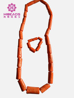 Mężczyźni Koral Koraliki Afryki nigerii Coral Zestaw Biżuterii Naszyjnik Bransoletka Zestaw Biżuterii Ślubnej dla Pana Młodego Człowieka Darmowa Wysyłka CNR822