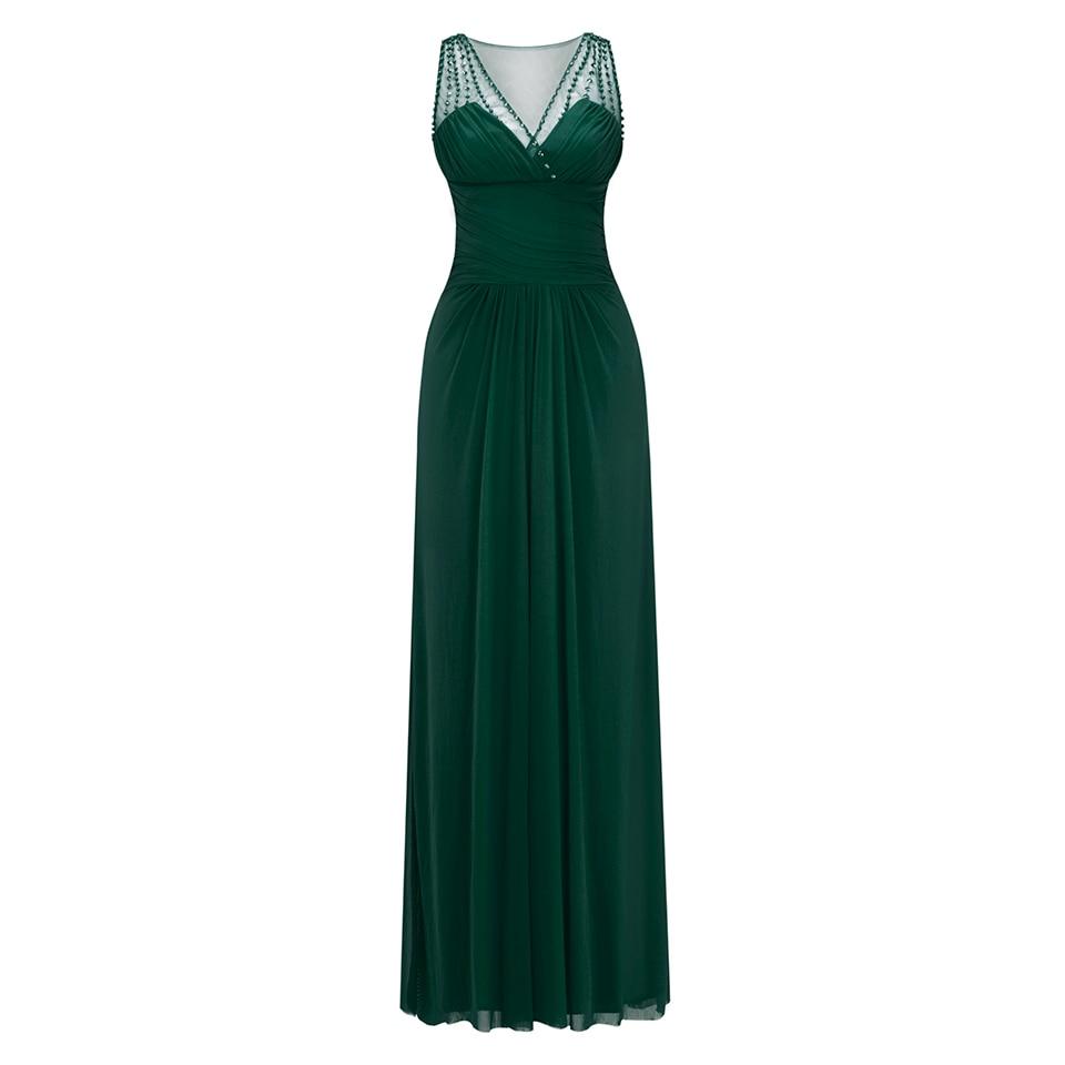 Dressv royal blue v neck long evening dress cheap beading wedding party formal dress a line evening dresses