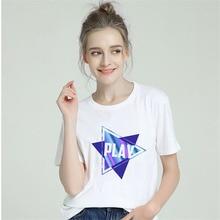 BTFCL Women 2019 Summer Graphic Geometry Shirt Femme Funny Harajuku T Korean Tops Kawaii Pink Streetwear Camiseta Mujer