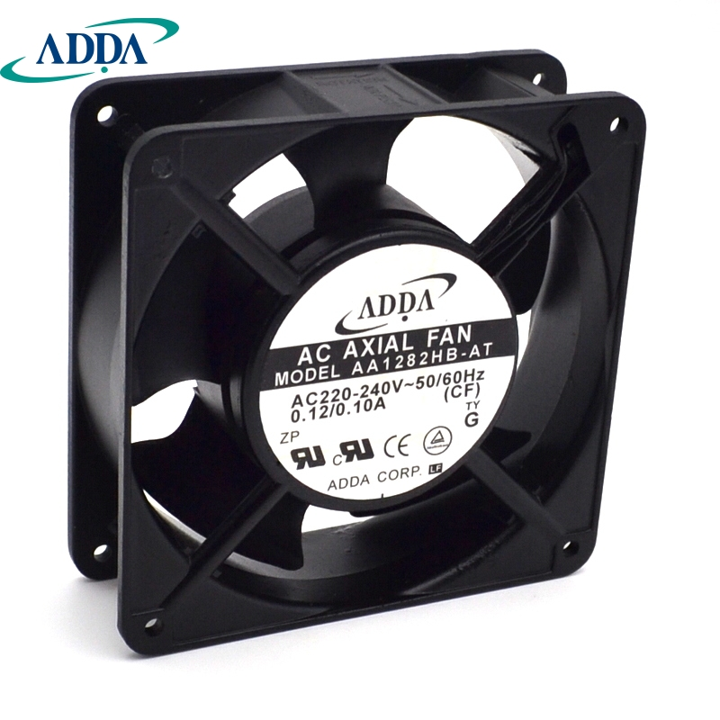 ADDA New and original cabinet dedicated axial fan AA1282HB-AT 220V 0.10A control cabinet cooling  120 * 120 * 38mm cooling fan 220v 120mm aa1252mb at adda 120 120 25mm 12025 12cm ac fan axial fan outlet