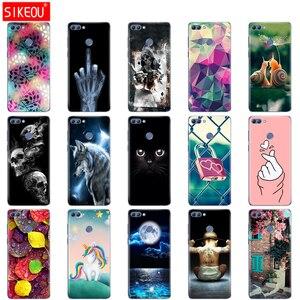 Image 1 - Чехол для телефона huawei P smart 2018 Enjoy 7S, Мягкая силиконовая задняя крышка из ТПУ, 360, полная Защитная прозрачная оболочка с принтом