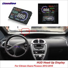 Liandlee Car HUD Head Up Display For Citroen Xsara Picasso 2012-2018 Safe Driving Screen Full Function OBD Projector Windshield liandlee car hud head up display for chevrolet colorado s10 gmc canyon 2012 2018 safe driving screen obd projector windshield
