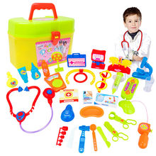 MUQGEW children's suitcases 30pcs maletas Baby doctor play set Medical Play Carry Set Case Education Role Play doctora juguetes(China)