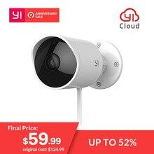 YI Открытый Водонепроницаемая камера видеонаблюдения 1080 p Беспроводной IP разрешение Ночное Видение безопасности системы скрытого видеонаблюдения Облако камера видеонаблюдения Wi Fi