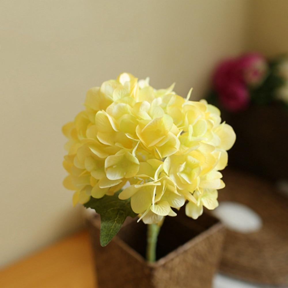 8cm Head Hydrangea Artificial Fake Flower Room Hotel Wedding ...