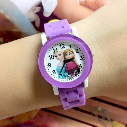 Children Watch Cartoon Princess Elsa Child Watches Candy Cute Color Anna Kids Clock For Girl Student Gift Wrist Watches Joven Islamabad