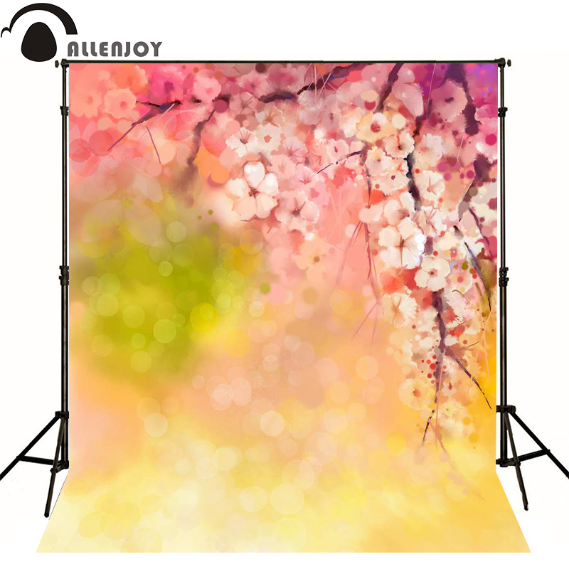 Allenjoy photography backdrops bokeh Chinese style yellow flower photo background newborn baby photocall lovely photo studio