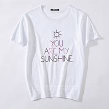 Men T Shirts Printed Brand Clothing You Are My Sunshine T-shirts For Man Top Plus Size Casual Tops Tees Clothing Short sleeve(China)