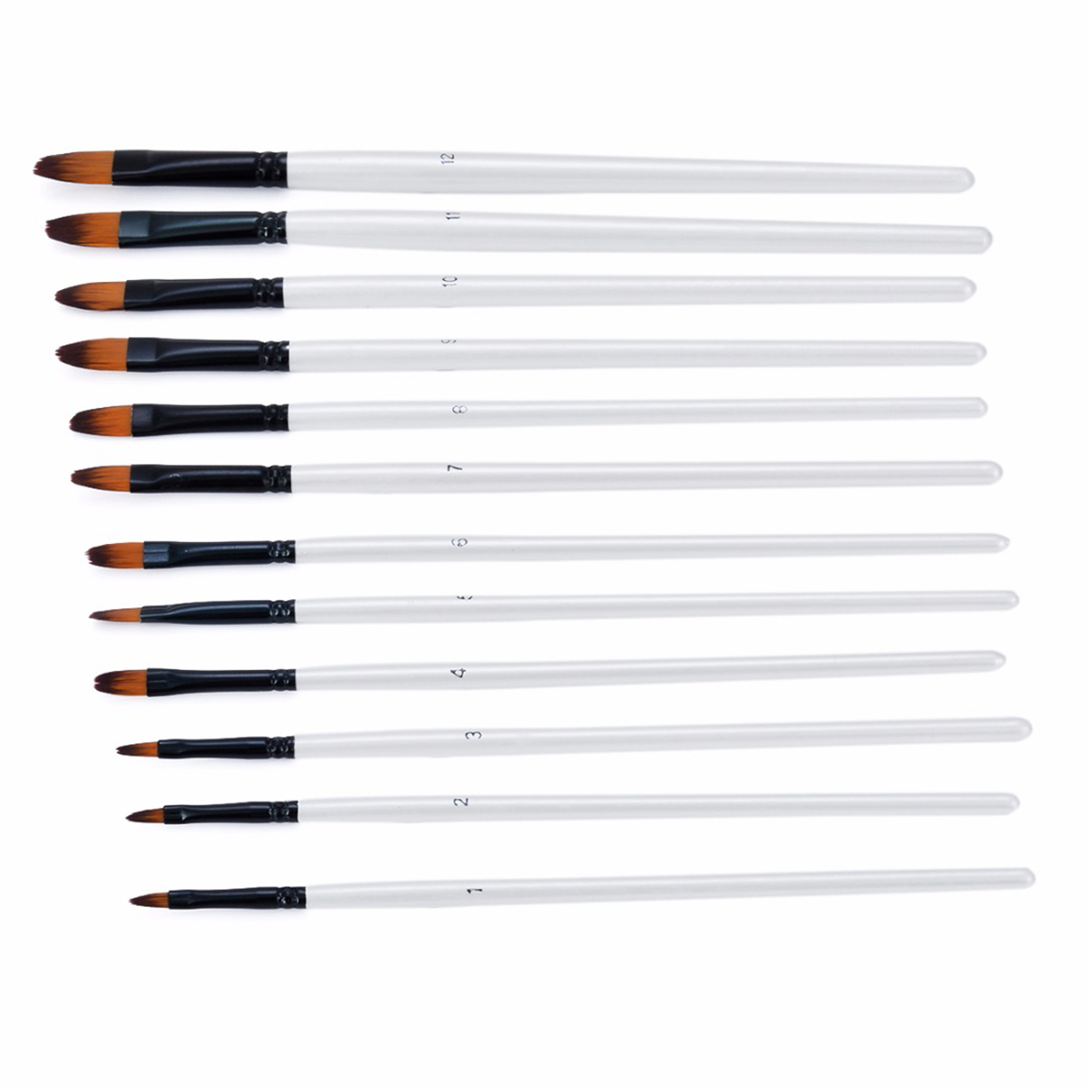 12pcs Paint Brushes Set Artist Paint Brushes Set Acrylic Oil Watercolour Painting Art Craft For Painting Exercises Painting Exam