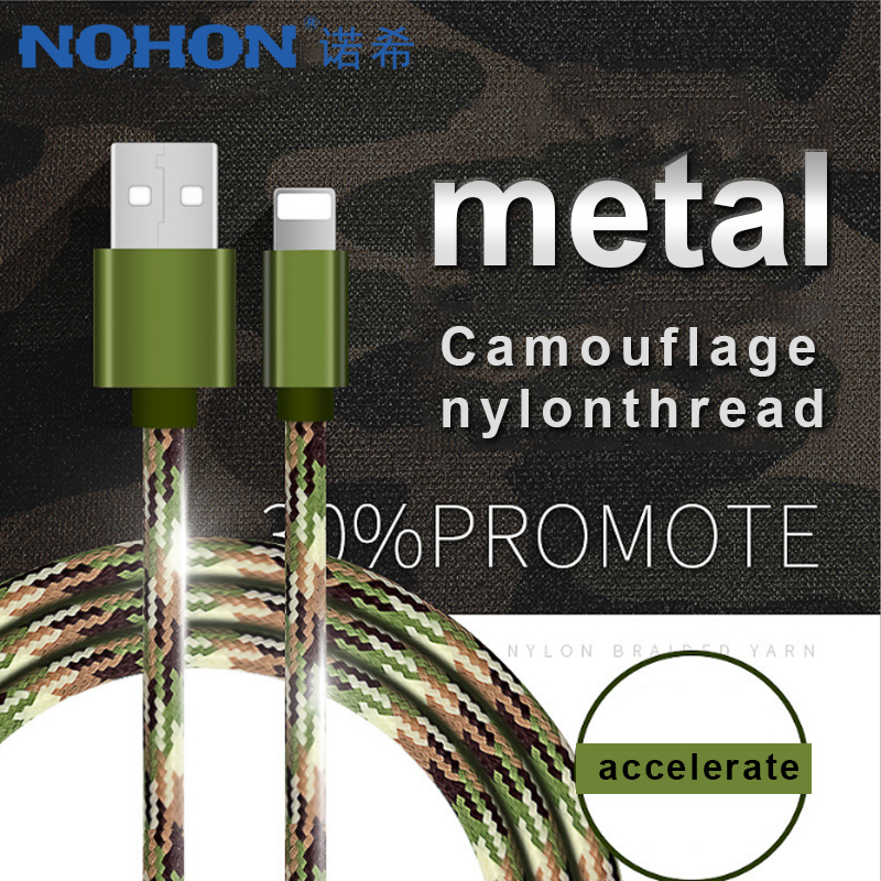 NOHON Nylon Lighting Fast Charging Data Cables For iPhone X 8 7 6 5 Plus 5C IOS 8 9 10