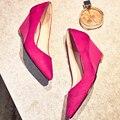 2017 Cuñas de los altos talones mujeres zapatos de cuero Genuino 6.5 CM talón de las señoras Atractivas de La Manera bombas para La Boda party girls b1641