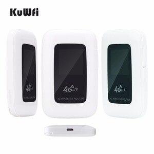 Image 2 - Разблокированный 2100 mAh 3g/4G wifi роутер 100 Мбит/с мобильный wifi точка доступа карманный беспроводной маршрутизатор для путешествий на открытом воздухе с слотом для sim карты