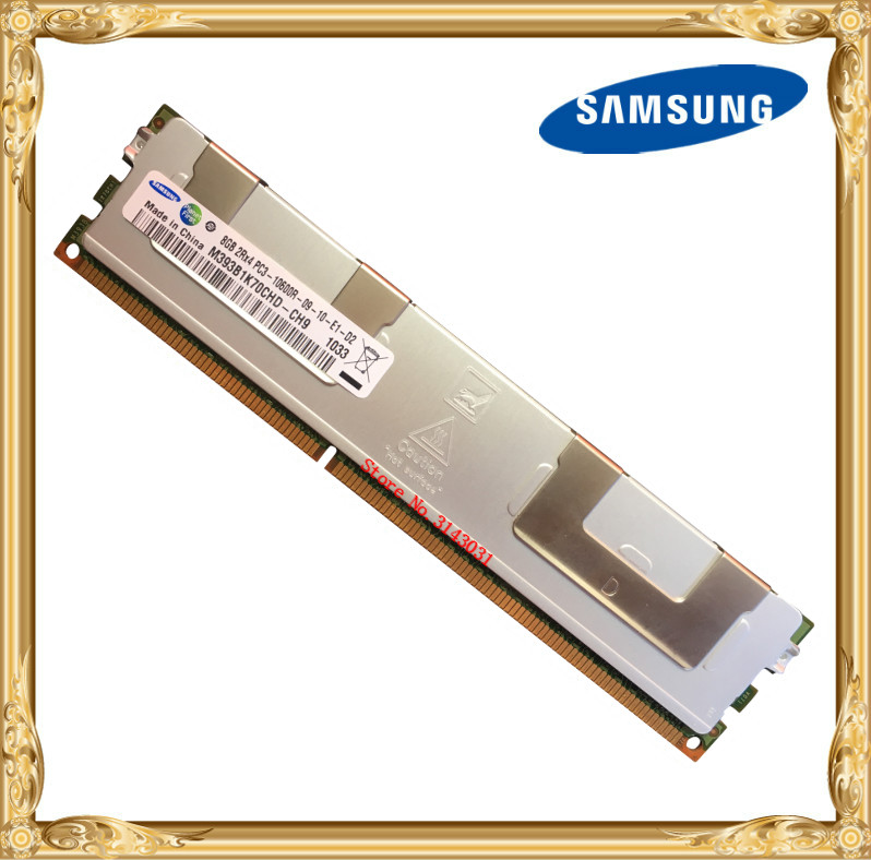 Samsung Serveur mémoire DDR3 8 GB PC3-10600R 1333 MHz ECC REG Registre RAM DIMM 240pin 10600 8G