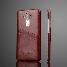 Luxury PU Leather Case For huawei Mate 9 Wallet Card Slots Fundas High Quality Mobile