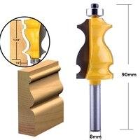 shank כלים 5Pc 8mm Shank מארז & נתבו דפוס Base Bit Set Cnc קו הסכין הניגר קאטר שֶׁגֶם קאטר כלים לעיבוד עץ (3)