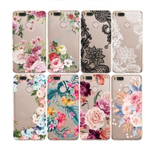 Fashion Ultra-thin Soft Silicone Floral Pattern Clear Case For Xiaomi Redmi Note 4 4X 5 5X 5A 6 6X 8 Pro A1 A2 Lite Pocophone F1