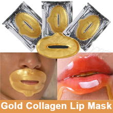 Luksus Lip Care Crystal 24K Gold Powder Gel Collagen Lip Mask Moisturizing Hydrating Repair Fjern Linjer Blemishes Fuller Lip