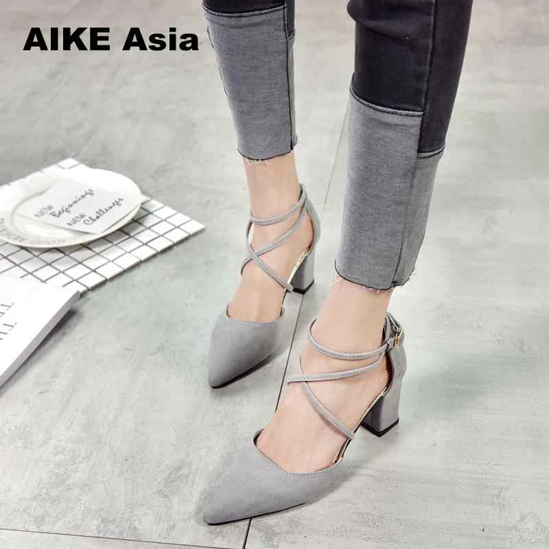 5fa72b02070 ... Gladiator Sandals Women Shoes Sexy Pointed Toe Pumps Womens Green  Ladies Shoe Zapatos Mujer High Heels ...