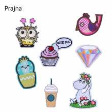 Prajna Diamond Embroidery Patch Cake Bird Cartoon Characters Stickers On Clothes Badge Iron Patches for clothing D