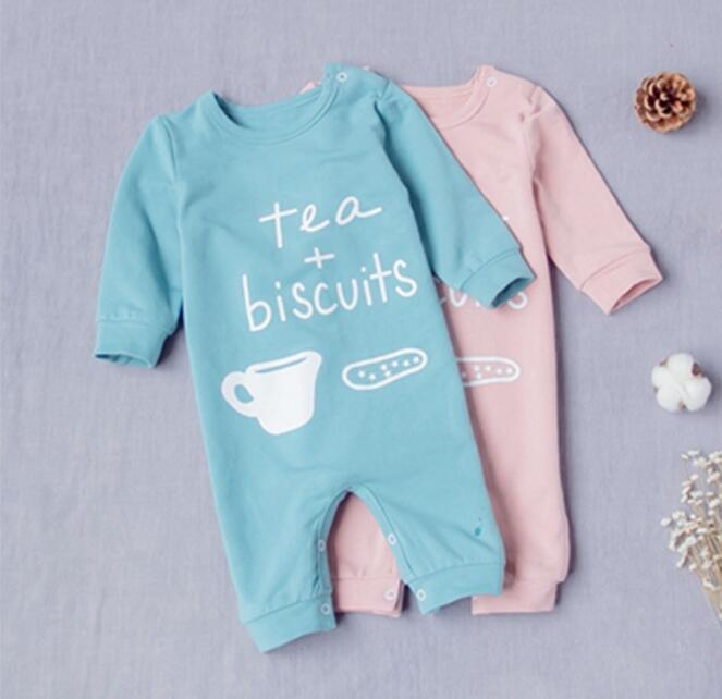 Spring Autumn New Baby Cotton Leotard Romper Newborn Baby Letter Printing Rompers Jumpsuits Clothes Children Long Sleeve Rompers hhtu baby rompers jumpsuits baby girls clothing children autumn newborn baby clothes cotton long sleeve climb clothes