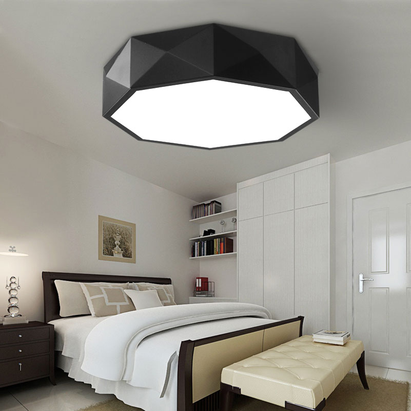 Personality Polygon Geometric Led Ceiling Light 24w Dimming Bedroom Living Room Foyer Room Ceiling Lamp Ceiling Lights Ceiling Lights & Fans