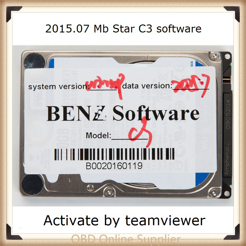 2019 latest software MB Star C3 SD Connect C3 HDD V2015.07 Version Software in Multi Language for D630 Laptop Free shipping
