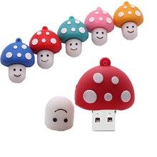 цена на USB 2.0 cute cartoon mushroom usb flash drive 4GB 8GB 16GB 32GB 64GB 128GB pen drive memoria usb stick creative gift pendrive