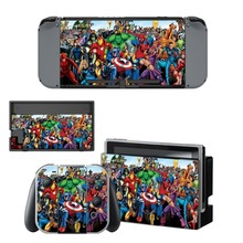 Avengers Spiderman Decal Nintendo Switch NS Console + Joy-Con Controller + Dock Station Protective Skin