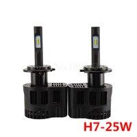 2pcs Lot Car Styling P6 Single Beam H7 25W LED Car Lamp 3200LM Luxeon ZES LED