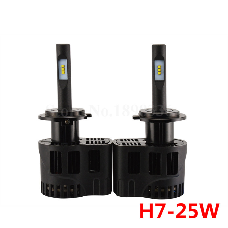 2pcs/lot Car Styling P6 single beam H7 25W LED Car Lamp 3200LM Luxeon ZES LED Chips Super White 6000K Car LED Headlight bulb
