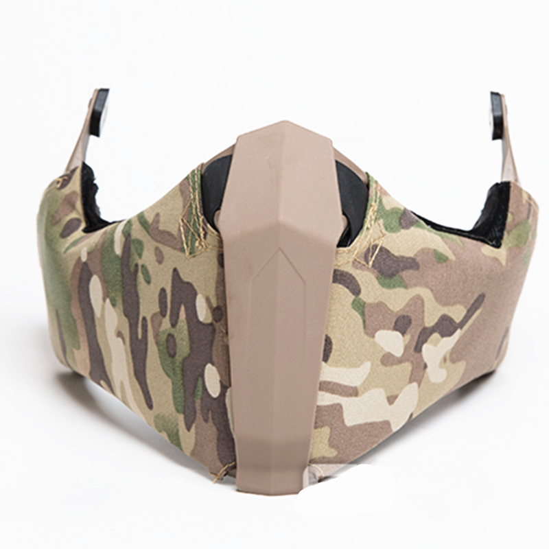 Tactical during off road vehicle missions Mandible Guide Rail Connection Half Face Mask for Ops Core