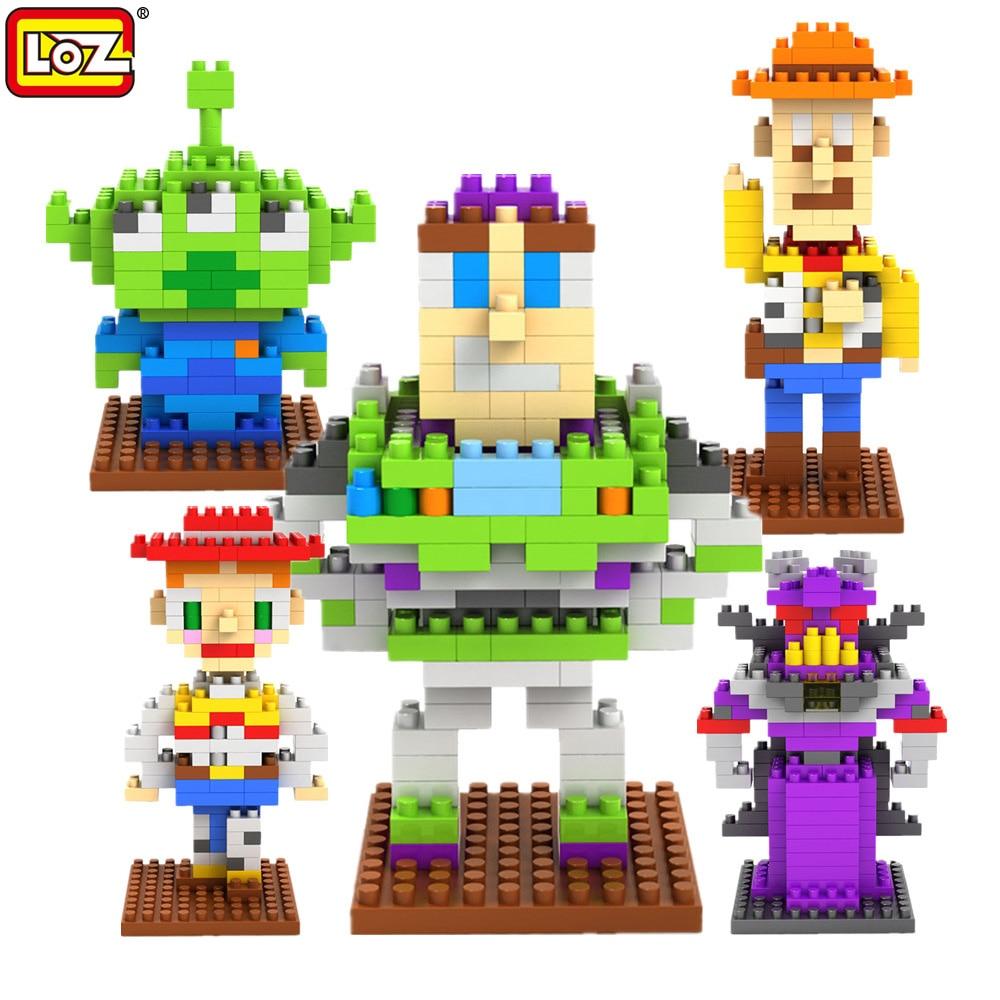 LOZ Toy Story Action blocks ego legoe star wars duplo font b lepin b font toys