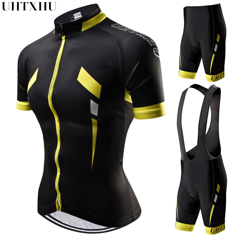 Uhtxhu 2019 Women Cycling Jersey Set Mountain Bike Clothing MTB Bicycle Wear Clothes Maillot Ropa Ciclismo Summer Cycling Sets