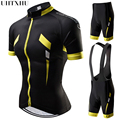 Uhtxhu 2019 feminino conjunto camisa de ciclismo mountain bike roupas mtb bicicleta wear roupas maillot ropa ciclismo verão conjuntos